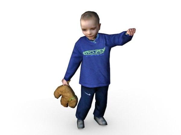 طفل رضيع مع تيدي بير