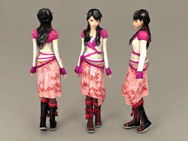Hermosa dulce chino chica