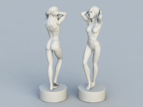 تمثال امرأة جميلة