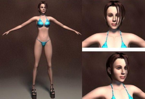 Bikini-naisen hahmo
