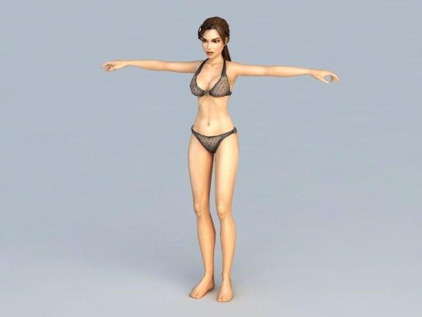 Black Bikini Woman