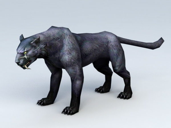 Black Panther Animal Modele 3d Gratuit Max Vray Open3dmodel