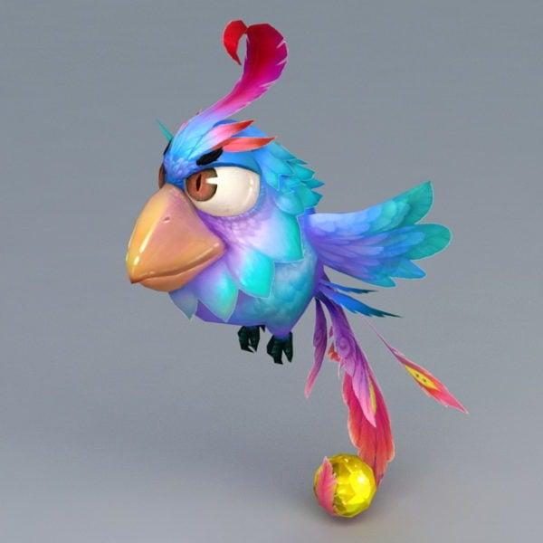 Pájaro Azul De Dibujos Animados