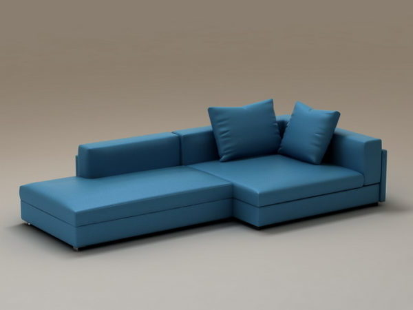 Blue Combination Corner Sofa
