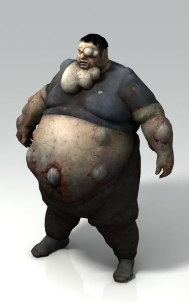 Boomer – Bloated Infected Zombie In Left 4 Dead Free 3d Model - .Max, .Vray  - Open3dModel - 129613