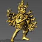 Buda de bronce con varios brazos