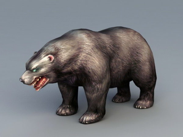 Ruskea karhu eläin
