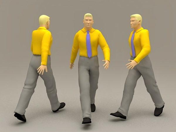 Hombre de negocios con camisa amarilla