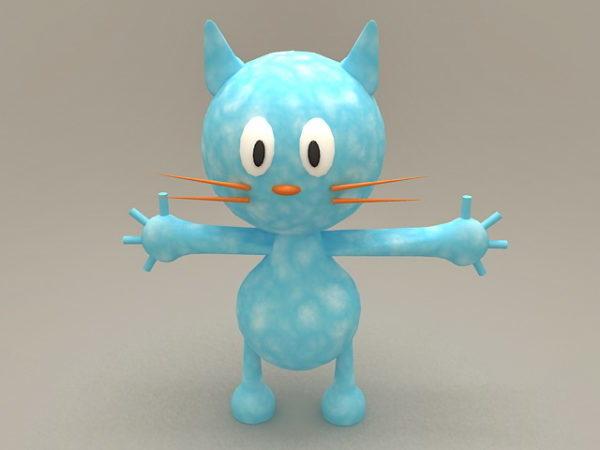 Sarjakuva sininen kissa