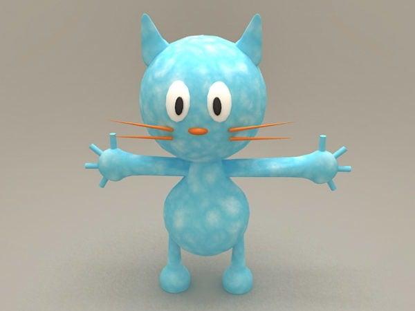 Gato azul de dibujos animados