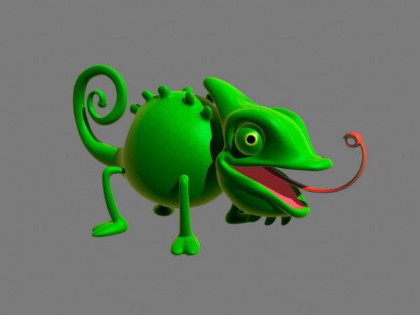 Cartoon Chameleon Rigged Free 3d Model Fbx Ma Mb Obj Open3dmodel 128161