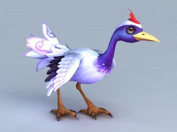 Sarjakuva nosturin lintu