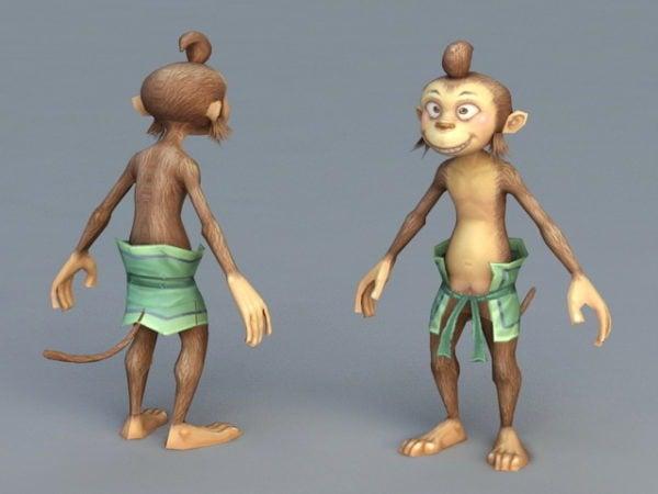 Cartoon Monkey Man