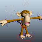 Cartoon Monkey Rigged
