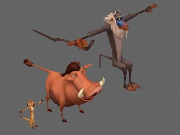 Leijonakuningashahmot Sarjakuva-eläimet