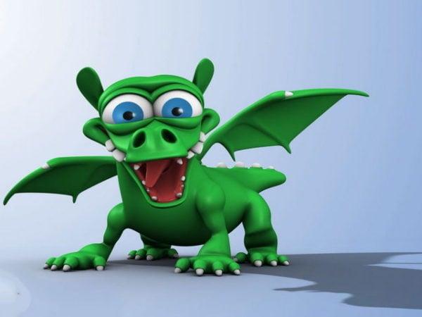 Hahmo Cartoon Dragon Rigging