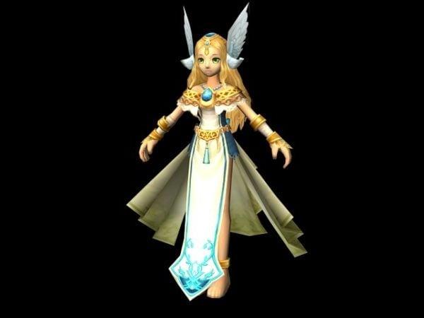 Chica de dibujos animados en personaje de Fusionfall