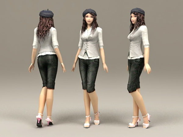Chica asiática casual
