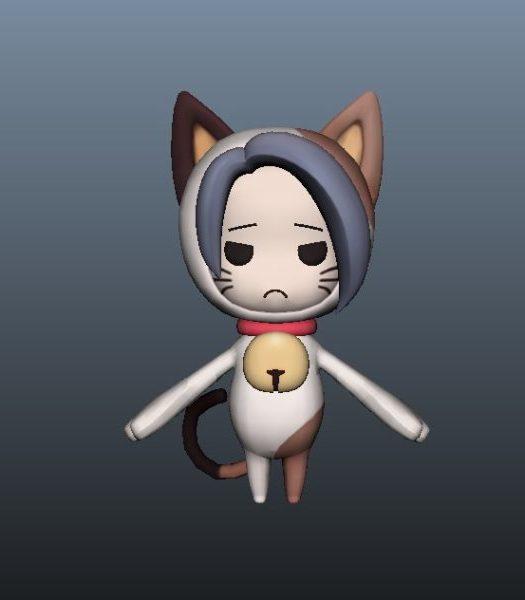 Personaje de anime Cat Girl