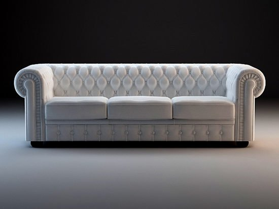 Chesterfield Sofa Set Furniture Free 3d Model - .3ds, .Max, .Vray -  Open3dModel - 132485