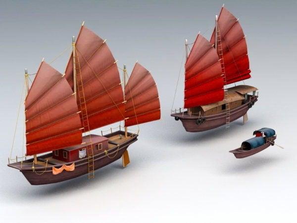 Chinese Junk Ship & Boat
