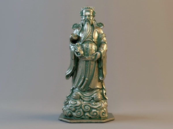 Estatua de bronce budista de Luxing chino