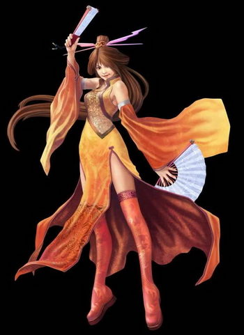 المحارب الصيني أنيمي فتاة