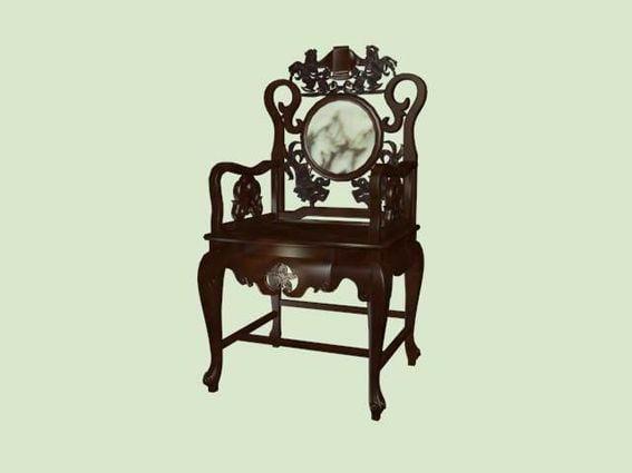 Kiinan muinaisten huonekalujen palatsi-tuoli