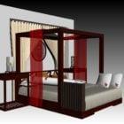 سرير صيني بأربعة أعمدة