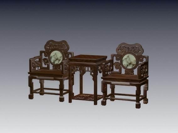 Klassinen kiinalainen puunleikkaustuoli