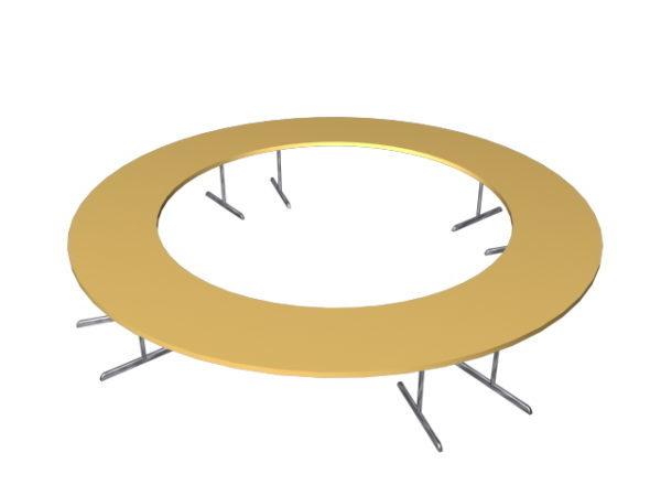 Puinen ympyrä -konferenssipöytä
