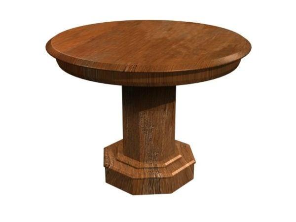 Pyöreä puu massiivipöytä