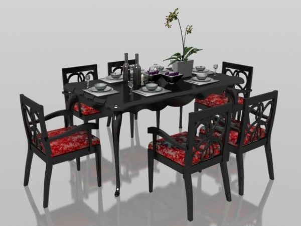 Classic 6 Seater Dining Set With Tableware