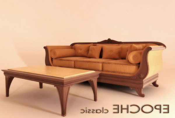 Classic Furniture Divan Sofa Coffee Table