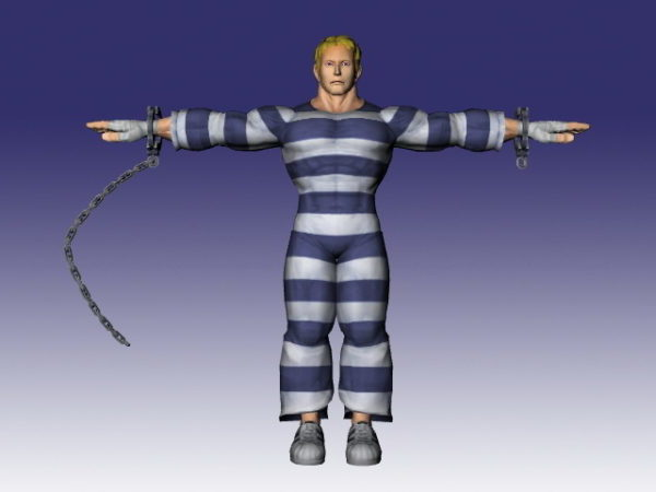 Cody In Super Street Fighter Iv Free 3d Model Ms3d Obj