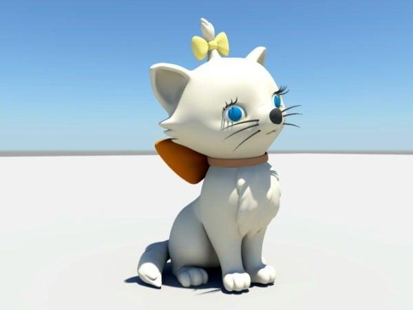 Cute Cartoon Cat Free 3d Model Open3dmodel 110918
