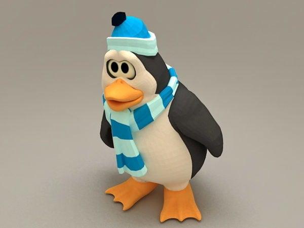 Sarjakuva talvi pingviini