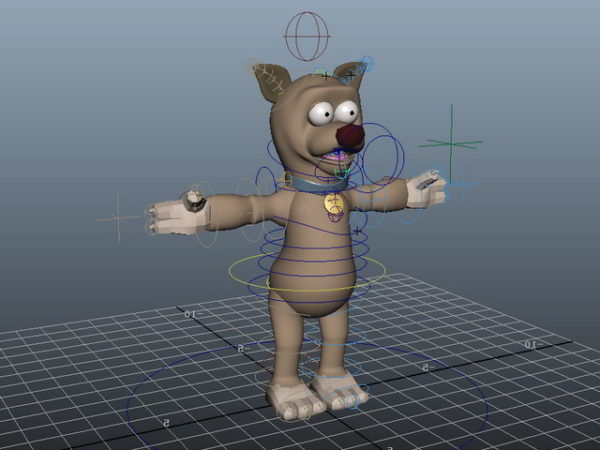 Cute Cartoon Dog Rigged