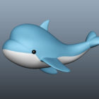 Cute Cartoon Dolphin Character