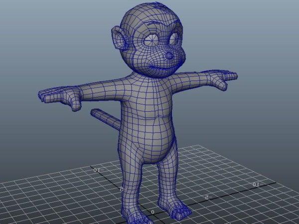 Character Cute Cartoon Monkey