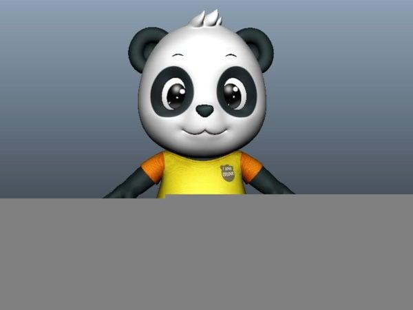 Cute Cartoon Panda Rig Free 3d Model Ma Mb Open3dmodel 111710
