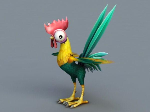 Cute Cartoon Rooster