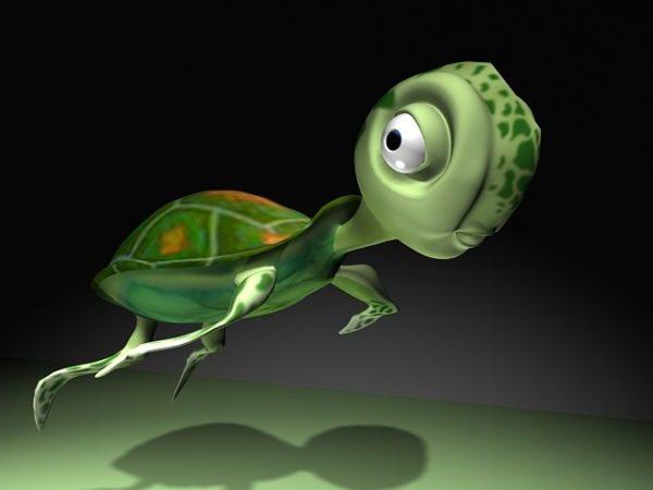 Söpö sarjakuva kilpikonna takki