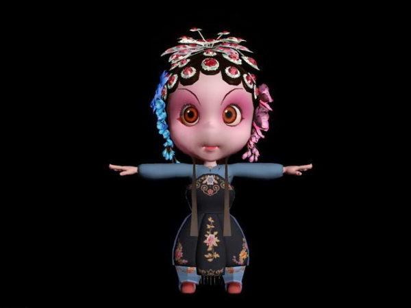 Lindo personaje chino de ópera