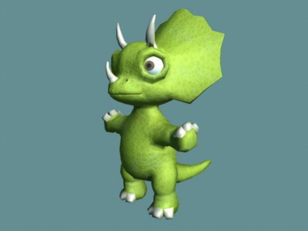 Söpö Triceratops Cartoon Rig