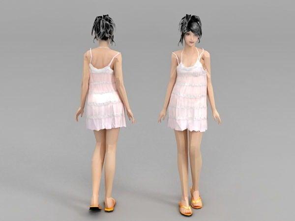 Dress Slip Girl Character