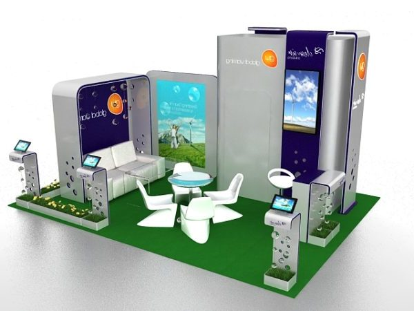 Exhibition Booth Design Free 3d Model Max Vray Open3dmodel 110046