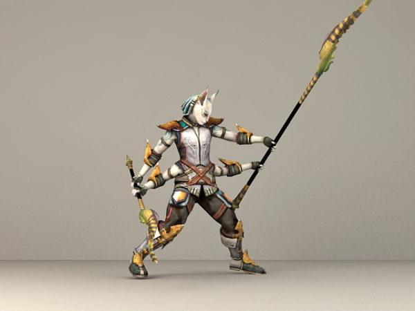 Fantasy Cat Warrior