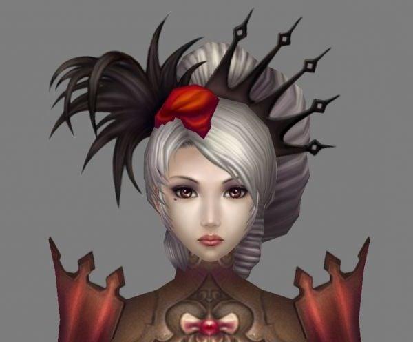 Chica gótica de fantasía
