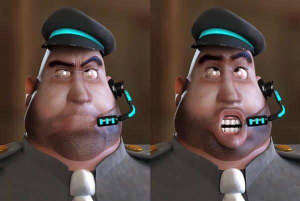 Dibujos animados de policía gordo